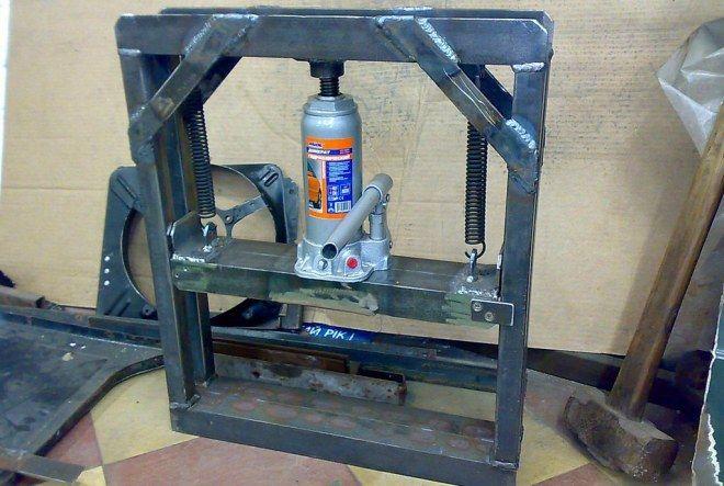 Самодельный гидравлический пресс herramienta Pinterest - fabrication presse hydraulique maison