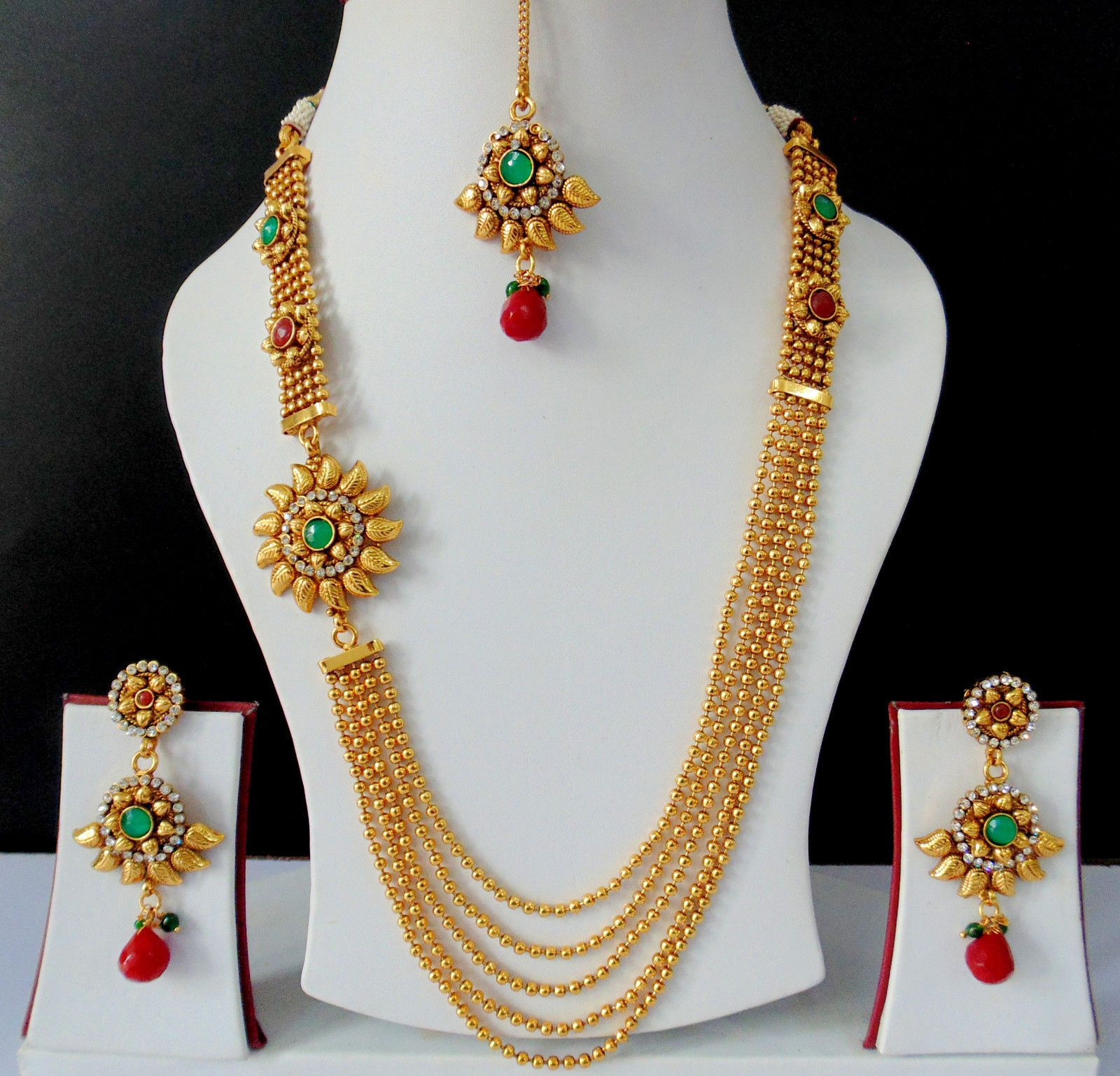 Gold rani haar pictures to pin on pinterest - Ethnic Indian Jewelry Bollywood Polki Long Necklace Earrings Tikka Royal Jpg 1600 1537 Saree Pinterest Indian Jewelry Bollywood And Ethnic