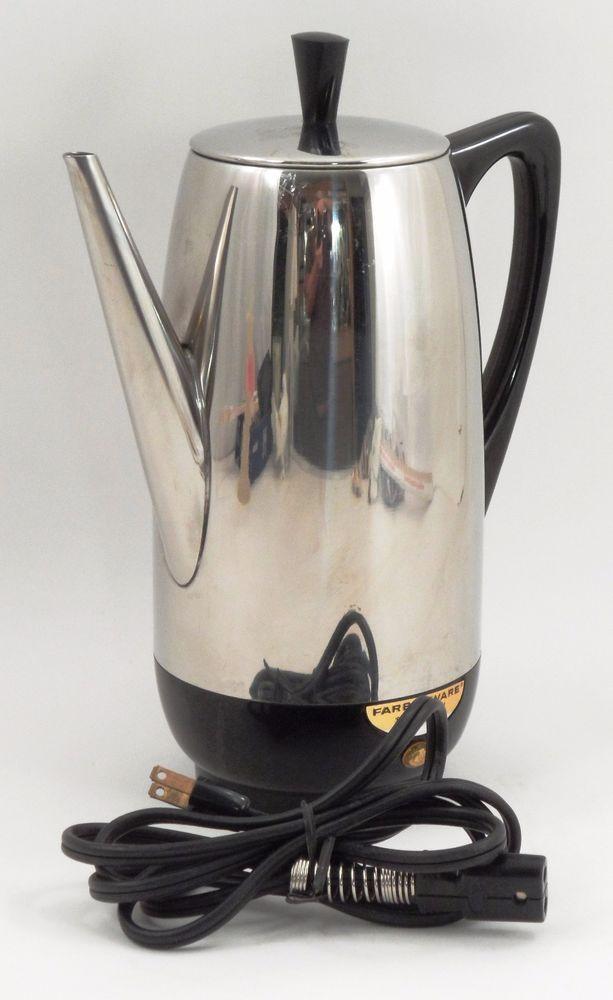 Clean EUC Farberware Superfast Fully Automatic 12 Cup Percolator Coffee Pot 122B