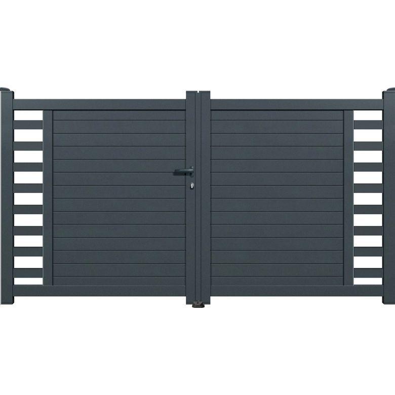 Portail Battant Andria 1100 3500 Mm Blanc Gauche Lapeyre Reduction Promotion Et Codes Promo En 2020 Balustrade Exterieure Porte De Garage Sectionnelle Porte Fenetre Alu