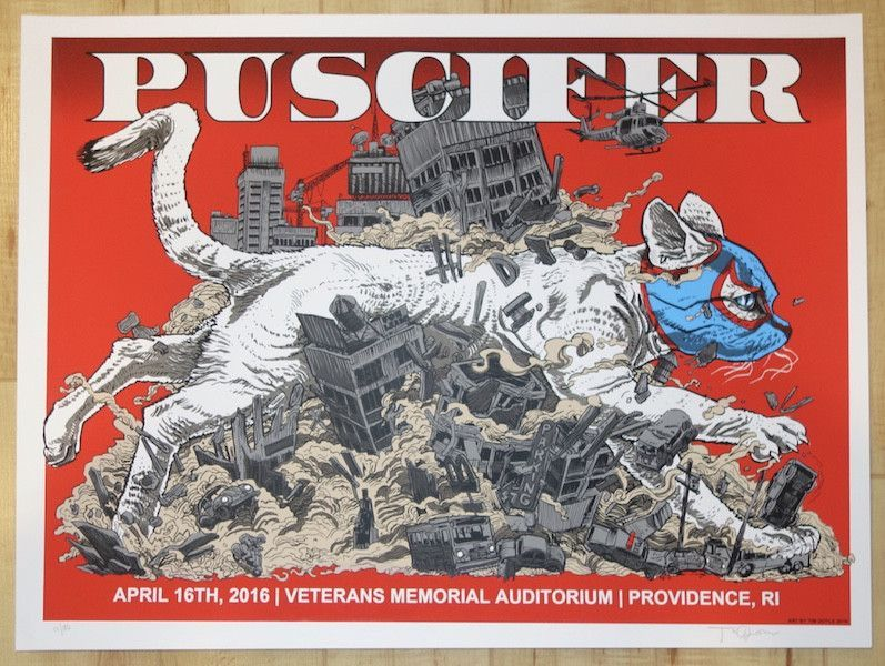 2016 Puscifer - Providence Silkscreen Concert Poster by Tim Doyle