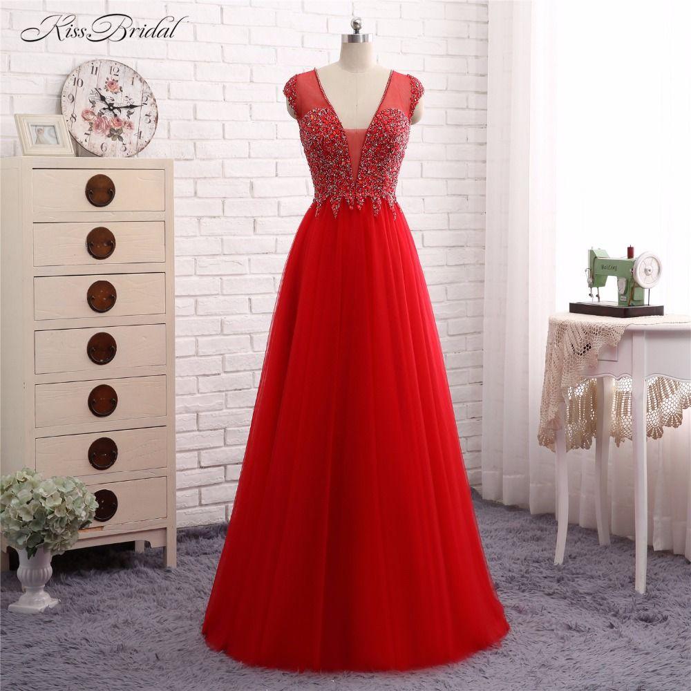 Click to buy ucuc evening dresses long abendkleider mermaid v