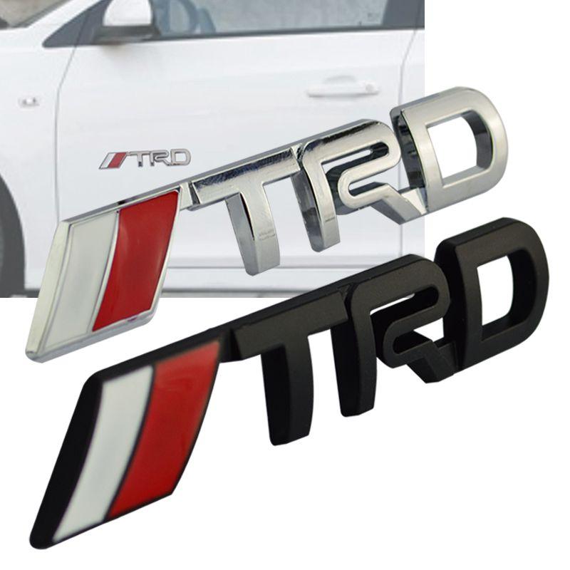 For Toyota 3d Chrome Trd Racing Development Logo Metal Emblem