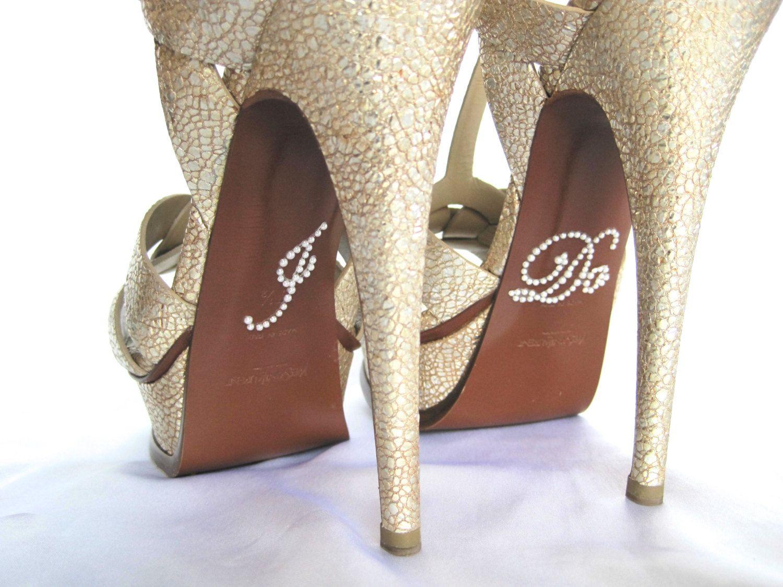 Rhinestone I Do Shoe Stickers Applique For Shoes Wedding
