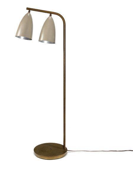 Grossman lighting Gubi Greta Grossman Brass And Enameled Aluminum Floor Lamp C1948 Pinterest Greta Grossman Brass And Enameled Aluminum Floor Lamp C1948 Low