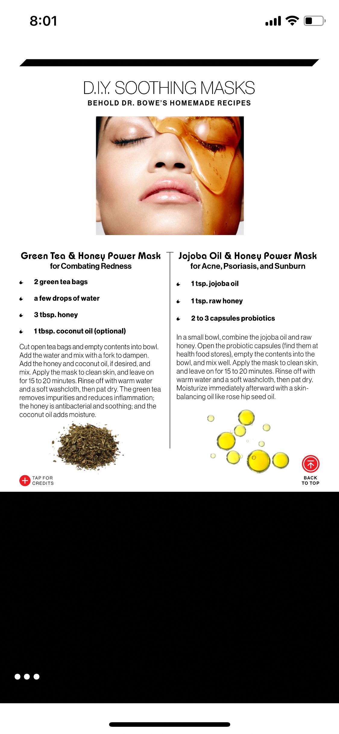 Photo of Green tea & honey mask Jojoba oil probiotic mask #PeelMask