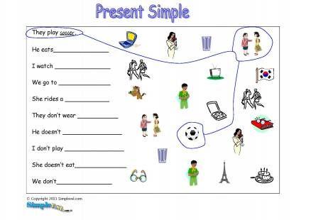Simple Present Tense Worksheets Kids Pinterest Simple
