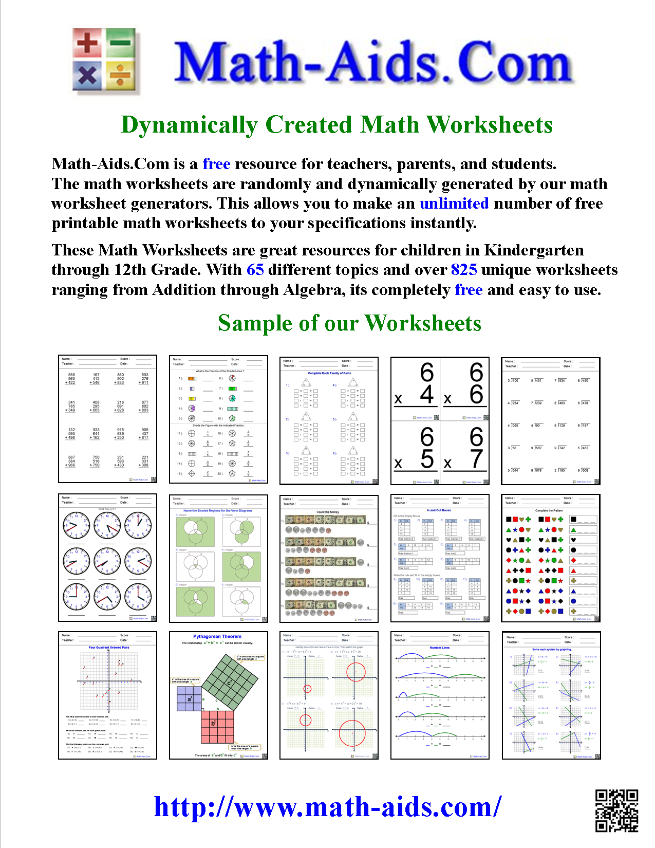 Math-Aids.Com | About Us Page | Create Math Worksheets (CC based ...