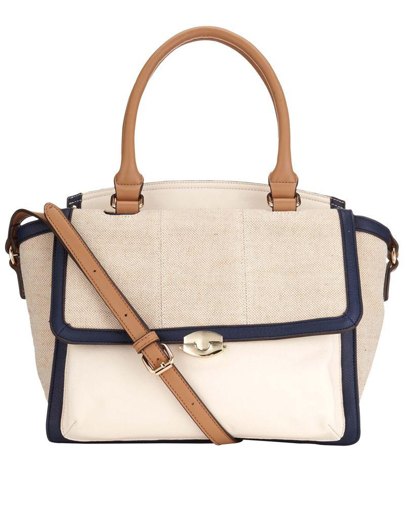 Linen Pocket Winged Bag