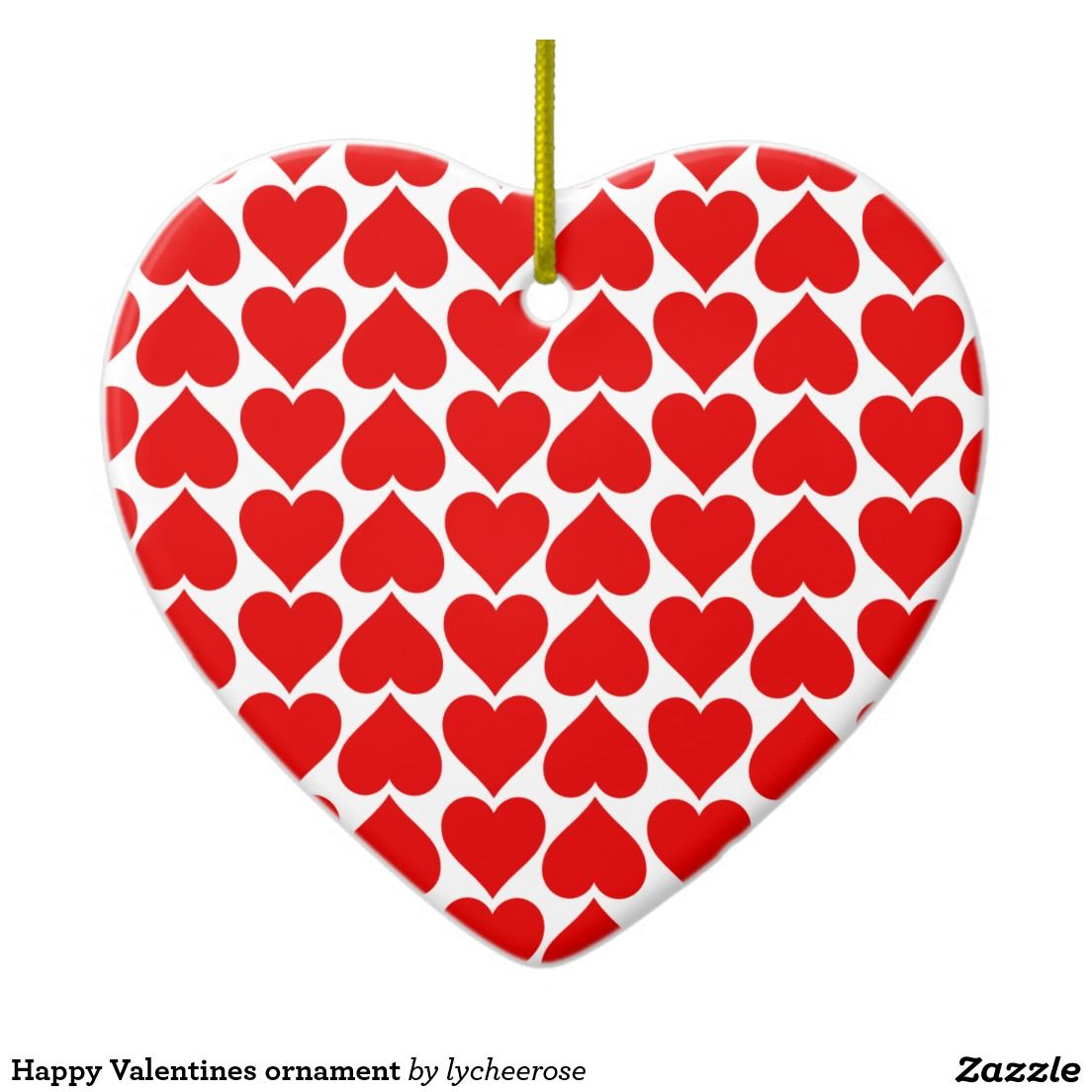 Happy Valentines ornament