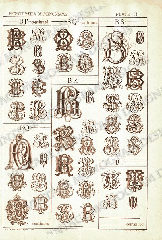 Bs Bt B Monogram Design
