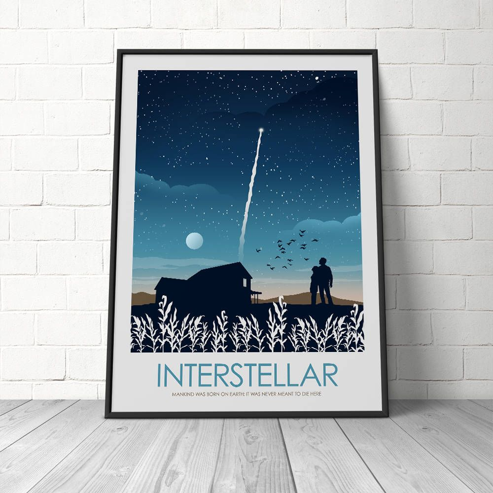 Wall Art Prints And Posters Interstellar Movie Poster Print Art Print Wall Decor Interior