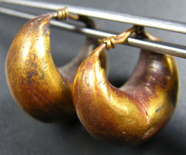 Rare gold earrings ancient roman artifact op 1834 Roman Gold