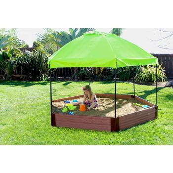 Frame It All Hexagon Sandbox with Canopy  sc 1 st  Pinterest & Frame It All Hexagon Sandbox with Canopy | Exterior Spaces ...