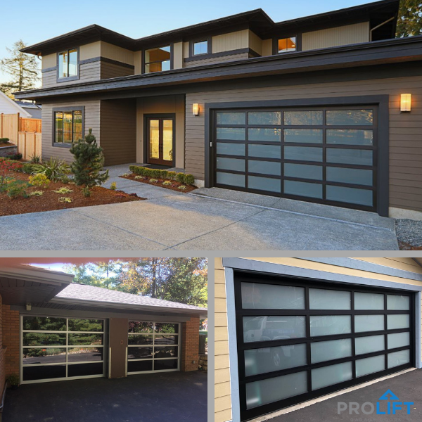 Home Style Trends For 2019 Include Glass Garage Doors Ideal For Complementing Any Contemporary Or Mi Glass Garage Door Garage Door Styles Garage Door Design
