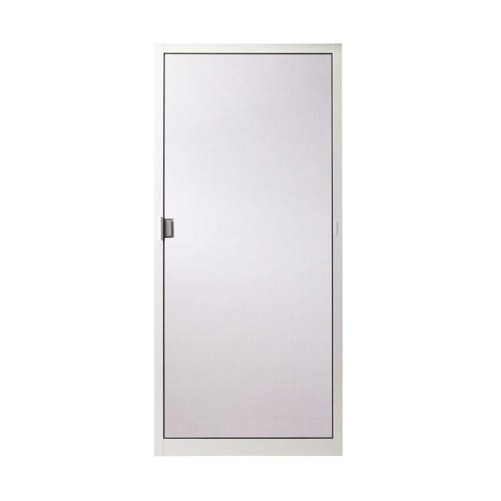 Andersen 36 In X 78 In 400 Series White Aluminum Sliding Patio Insect Screen Door 2565308 The Home Depot Insect Screen Door Sliding Screen Doors Screen Door Repair