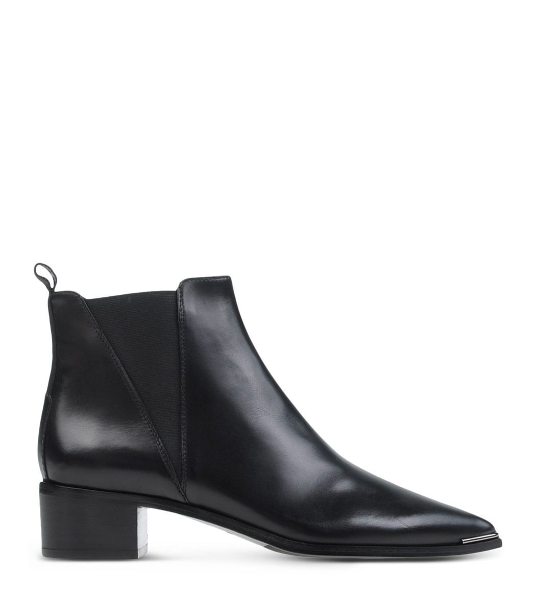 Acne Studios Black Smooth Leather Jensen Boot