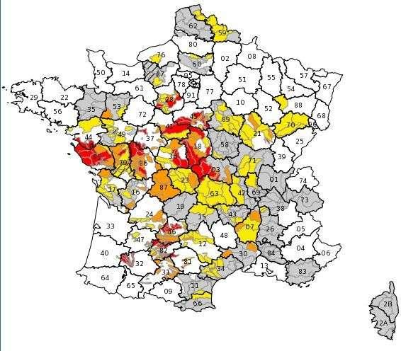 Sécheresse la carte des 49 départements concernés par