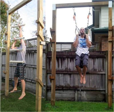 pull up frame  backyard gym no equipment workout