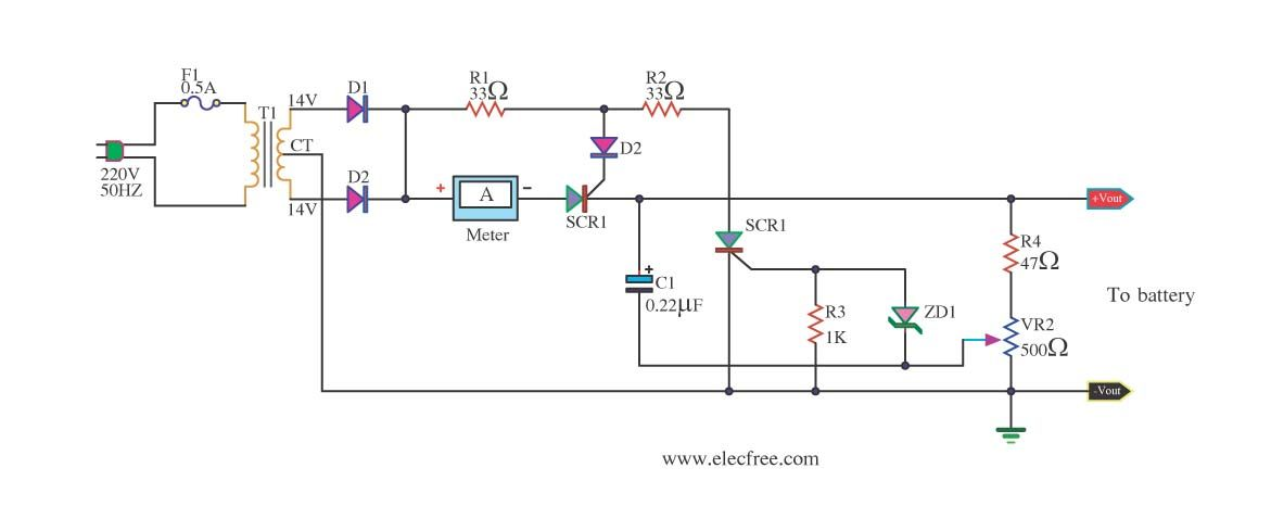 Automatic Battery Charger Circuit projects - ElecCircuit.com ...