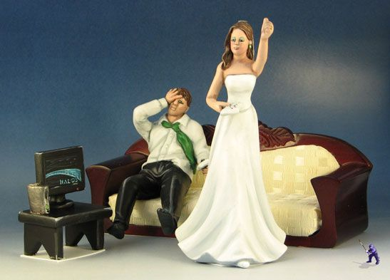 Geek Wedding Cake Toppers 1 Specialty By Garden Ninja Studios