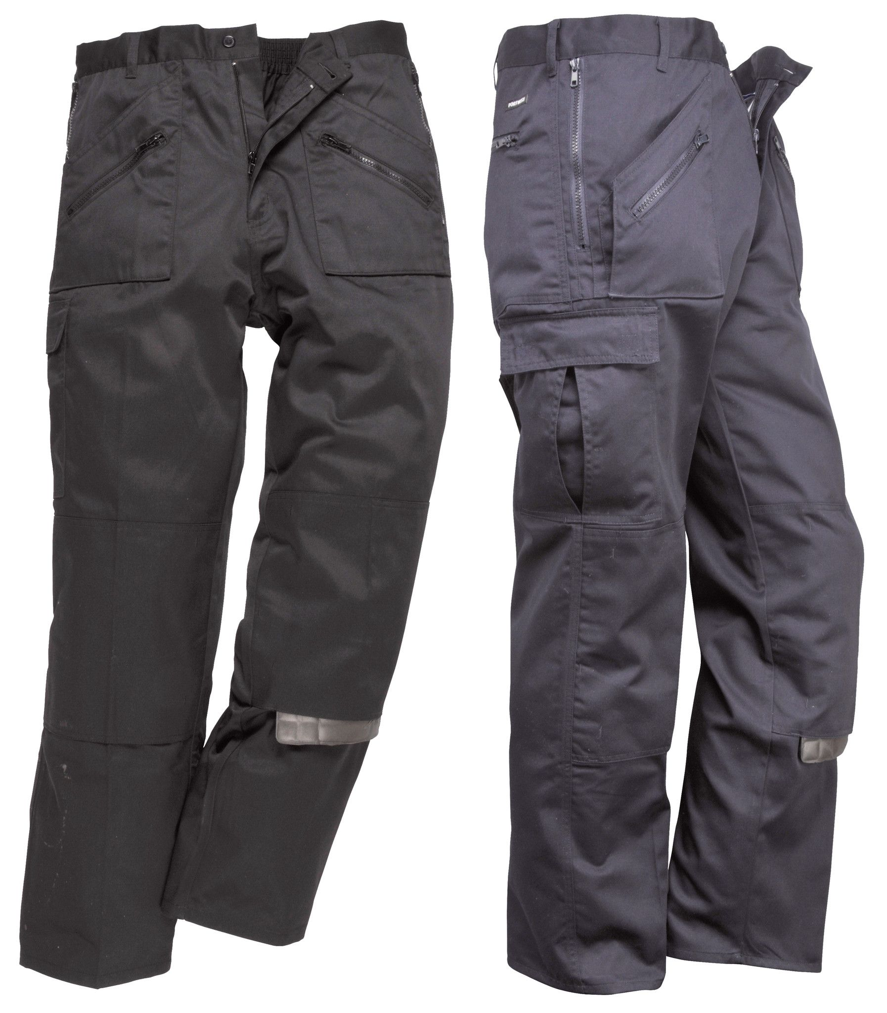 Workwear Action Trousers Knee Pads Pockets Multiple Zip Pockets Pants S887