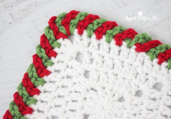 Crochet Candy Cane Border | Patrones amigurumi, Trapillo y Bebé
