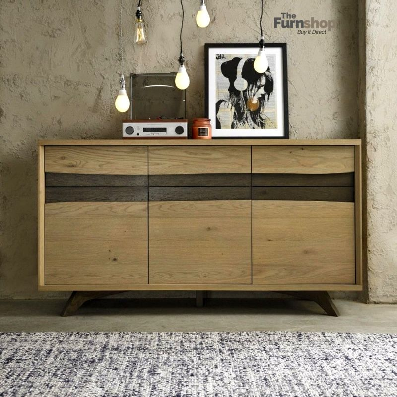 Bentley Designs Cadell Aged And Weathered Oak Sideboard Wide