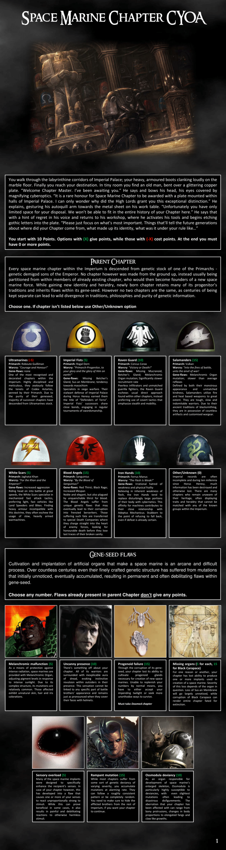 Space Marine Chapter Cyoa Space Marines Sprüche