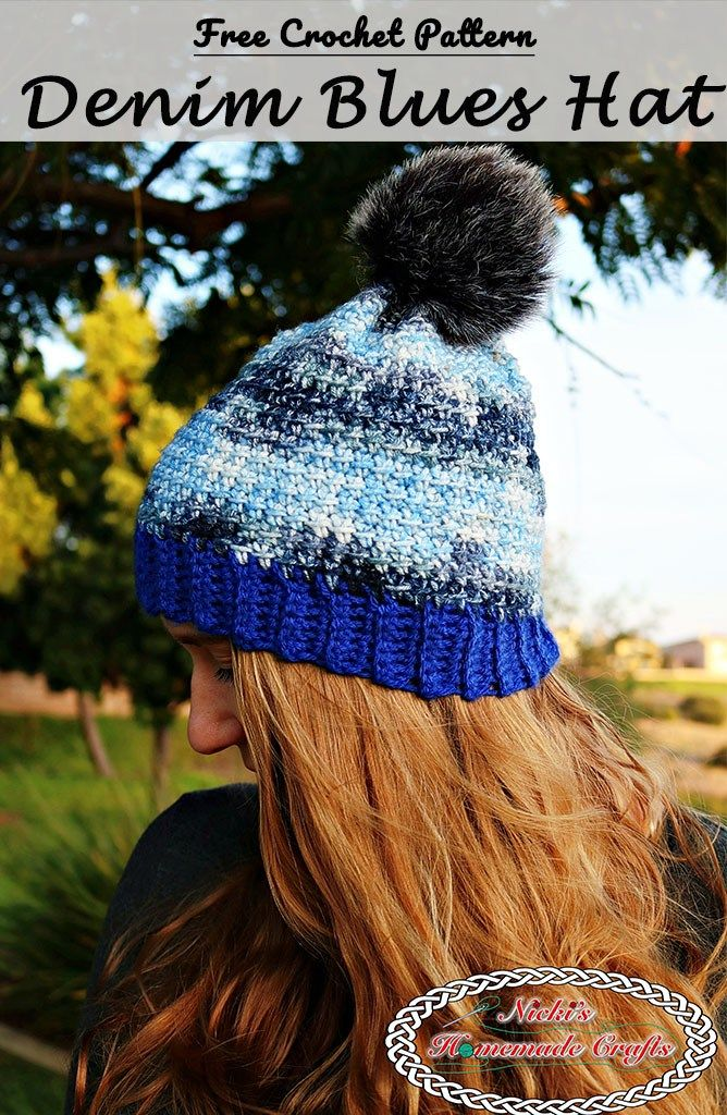 Denim Blues Hat - Free Crochet Pattern