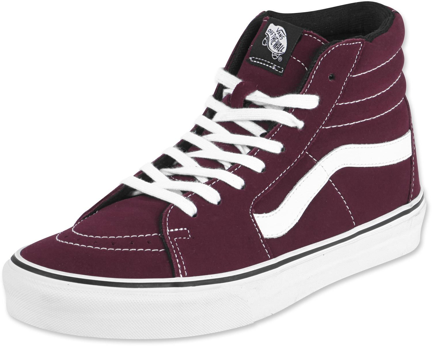 Go Britain | Maroon shoes, White vans, Sk8 hi vans