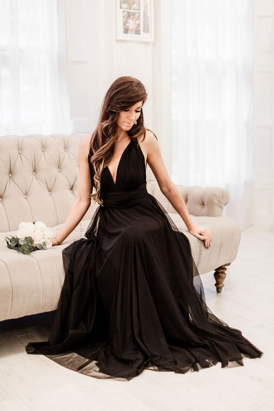 Twobirds bridesmaids launches new tulle collection for spring 2015 black full length tulle bridesmaids dress from the twobirds bridesmaids collection for spring 2015 photography ombrellifo Choice Image