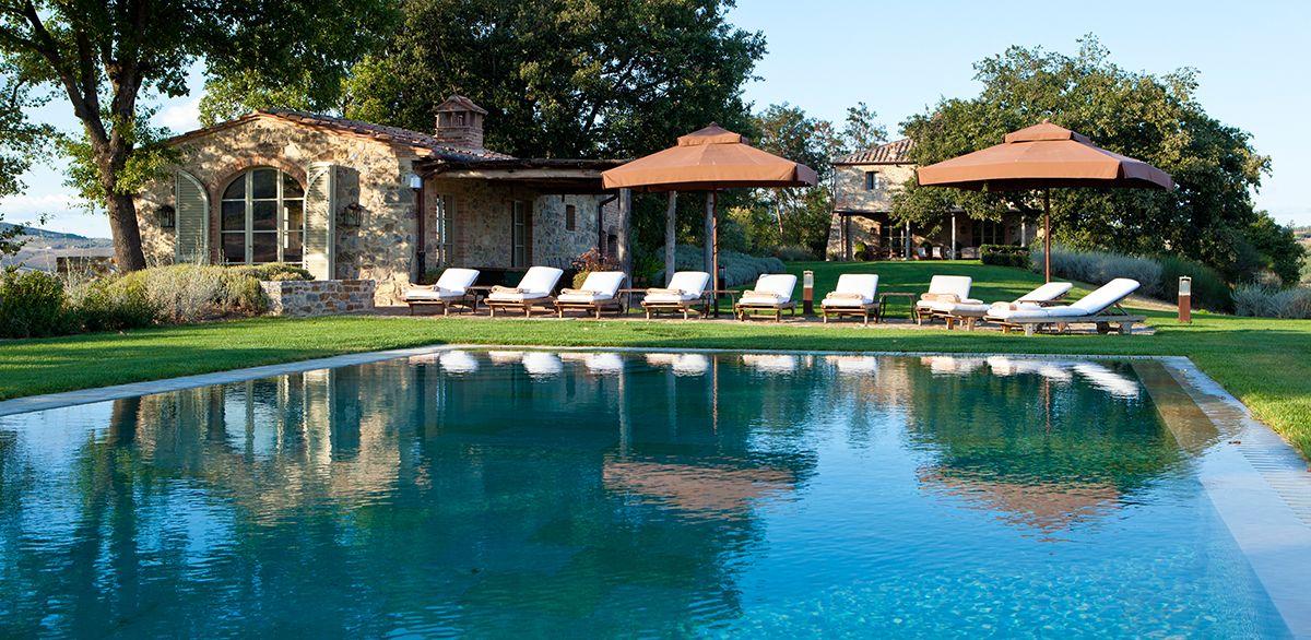 Swimming Pool Umrandung rosewood castiglion bosco villa stabbi tuscany pool