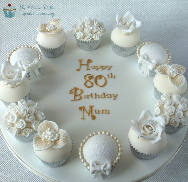80th Birthday Deluxe Cupcakes by The Clever Little Cupcake Company (Amanda), via Flickr