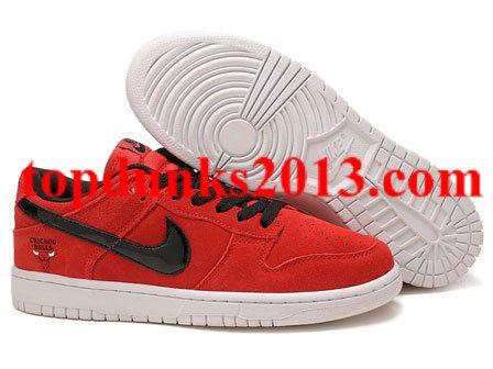 brand new 177f2 b690d Popular Red Black Chicago Bulls Rose Nike Dunk Low
