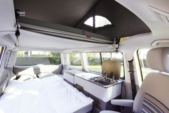Mueble para volkswagen california beach wolfcamper for Muebles camping