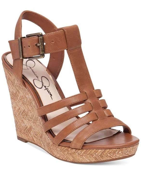 9418c24d0f5 T-strap and platform wedge styling sandals