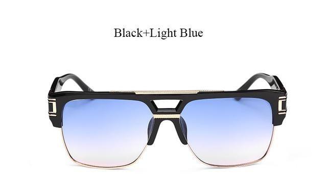 Oversize Square Sunglasses Women Men Vintage Brand