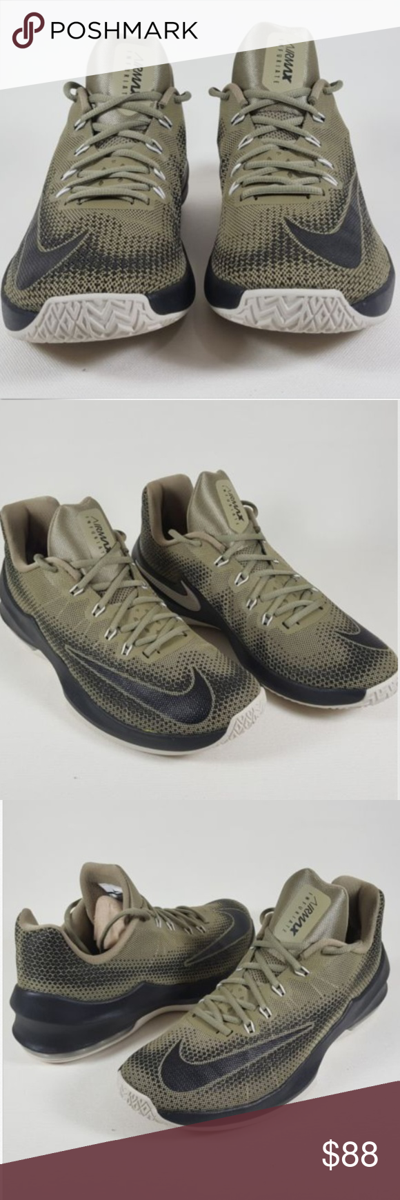 pretty nice 9e1c5 91c02 Nike Air Max Infuriate Low Green Sneakers  Brand New, Unused. Ships without  box  Nike Air Max Infuriate Low 852457-200 Trooper Black Cargo Green Men s  Size ...