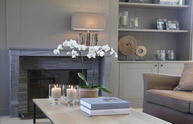 landelijke woonkamer met haardvuur | interieur | Pinterest - Modern ...