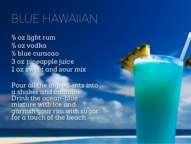 Blue Hawaiian Tropical Cocktails 10 Recipes To Get You On