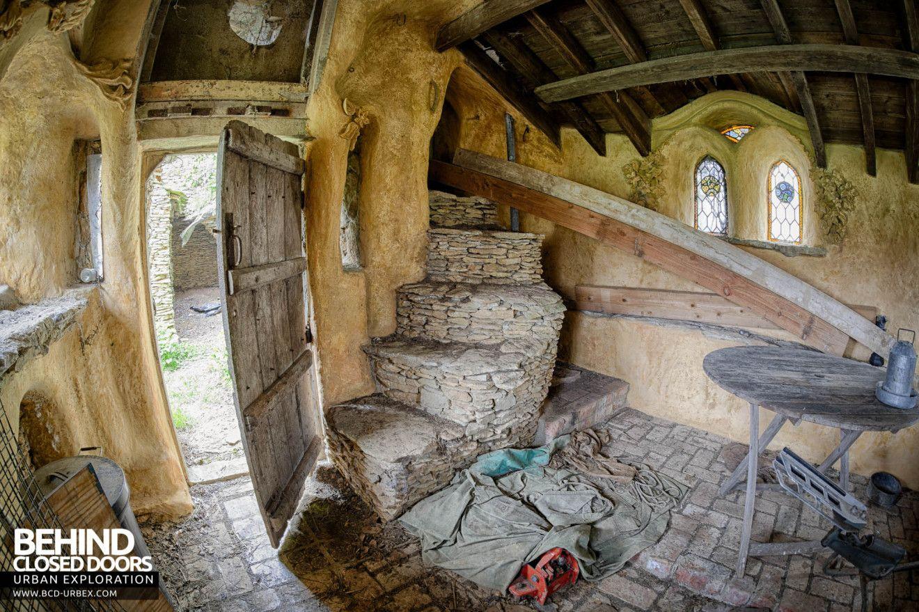 The Hobbit House Aka Colinu0027s Barn   Fisheye View Inside The Hermitage