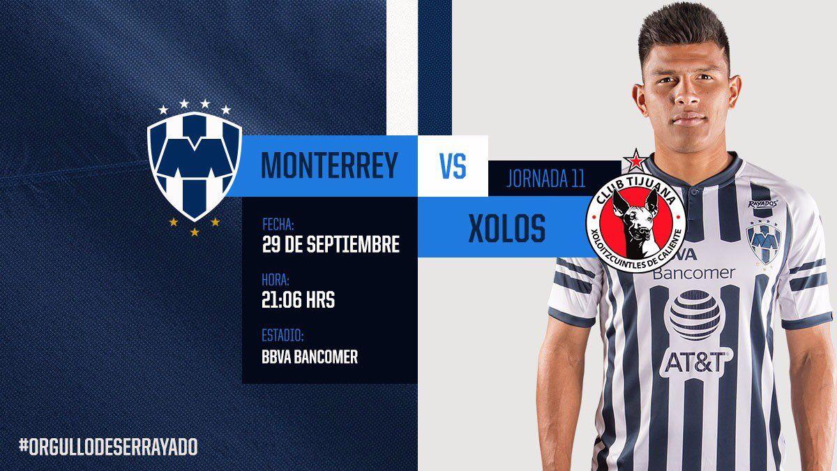 Partido de hoy Rayados vs Xolos en Vivo Liga MX con