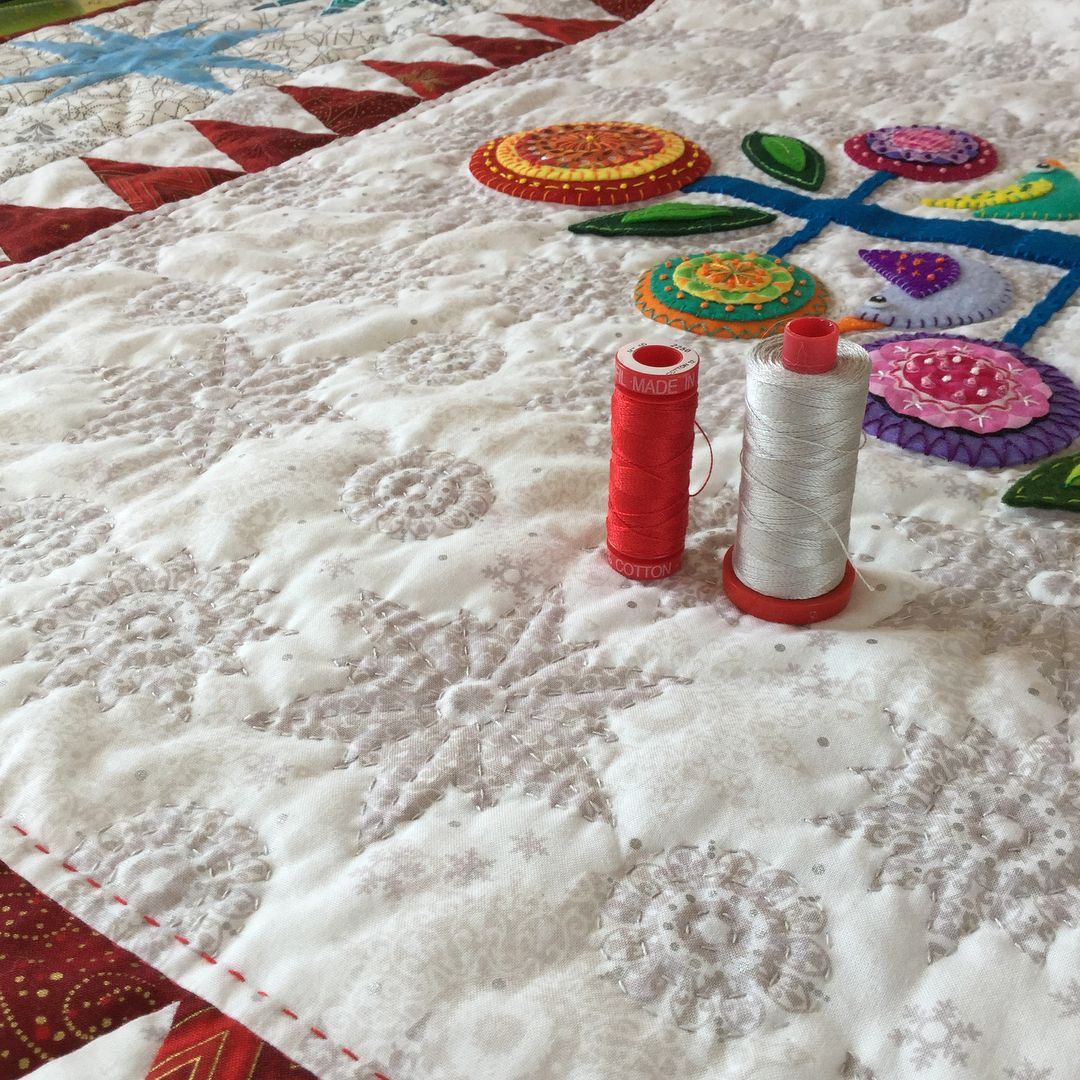 It\'s December, so it\'s time to bring out my Christmas quilt. This is ...