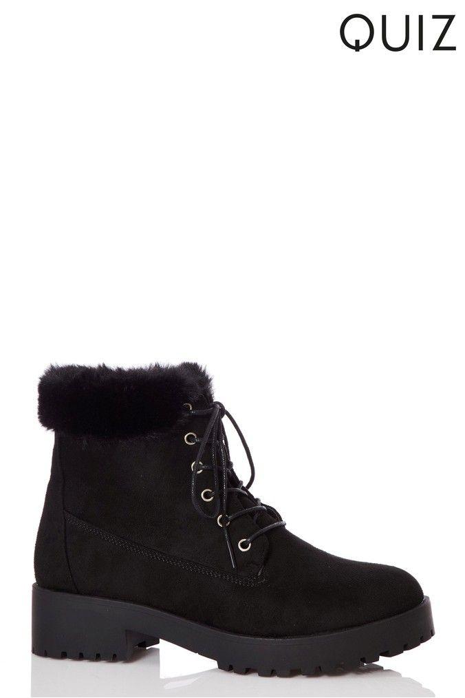 Womens Quiz Hiker Boots Black | Products | Boots, Black