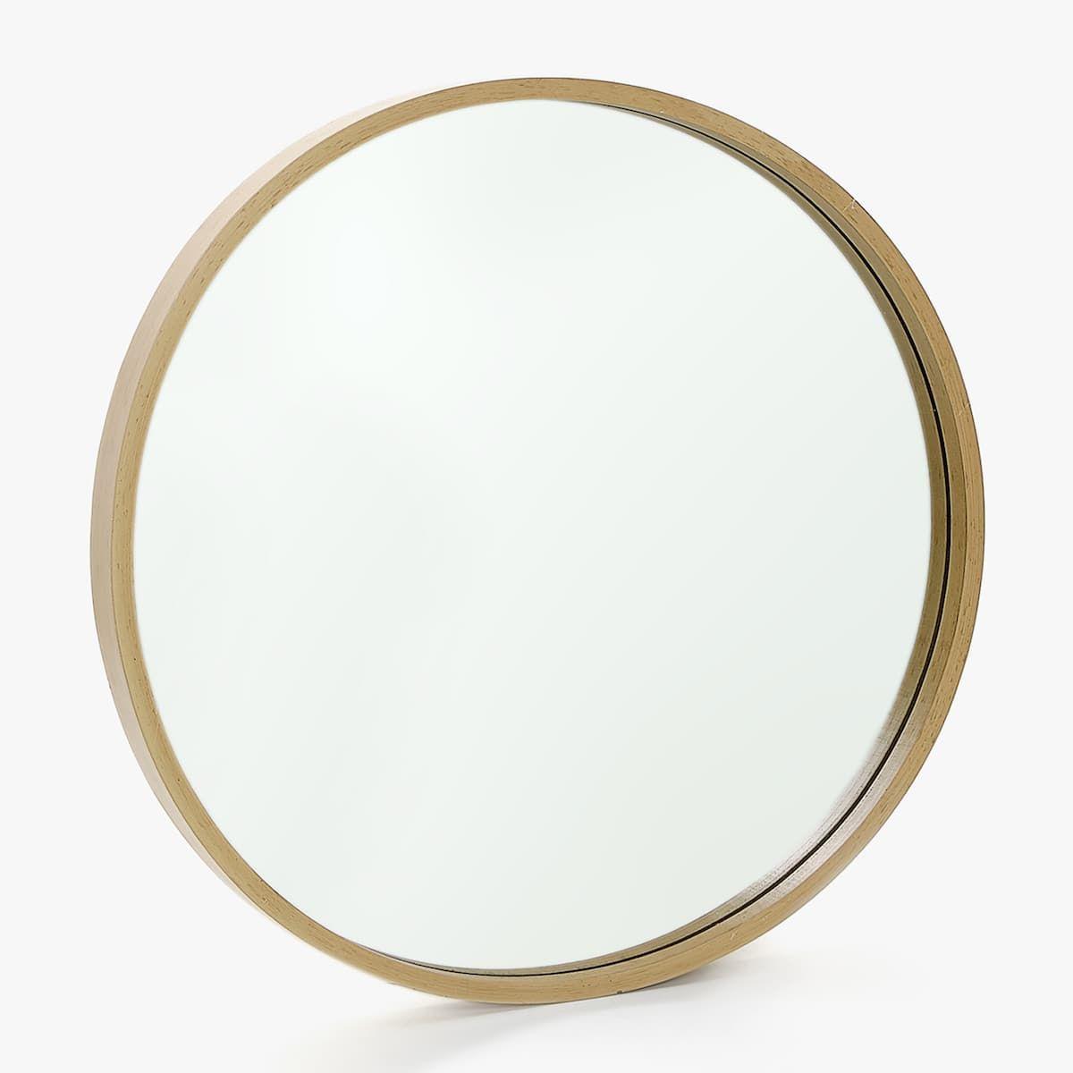 image 1 du produit miroir rond bois grand format issy en. Black Bedroom Furniture Sets. Home Design Ideas