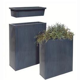Jardiniere Rectangulaire Haute En Zinc Noir L60 H76 Jardiniere Rectangulaire Jardiniere Rectangulaire Haute Bac A Fleurs