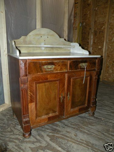 antique marble top vanity washstand washbasin i would love to turn this into a bathroom