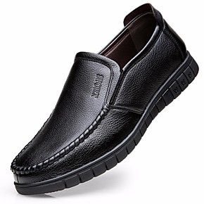 men's comfort shoes cowhide fall casual loafers  slipons