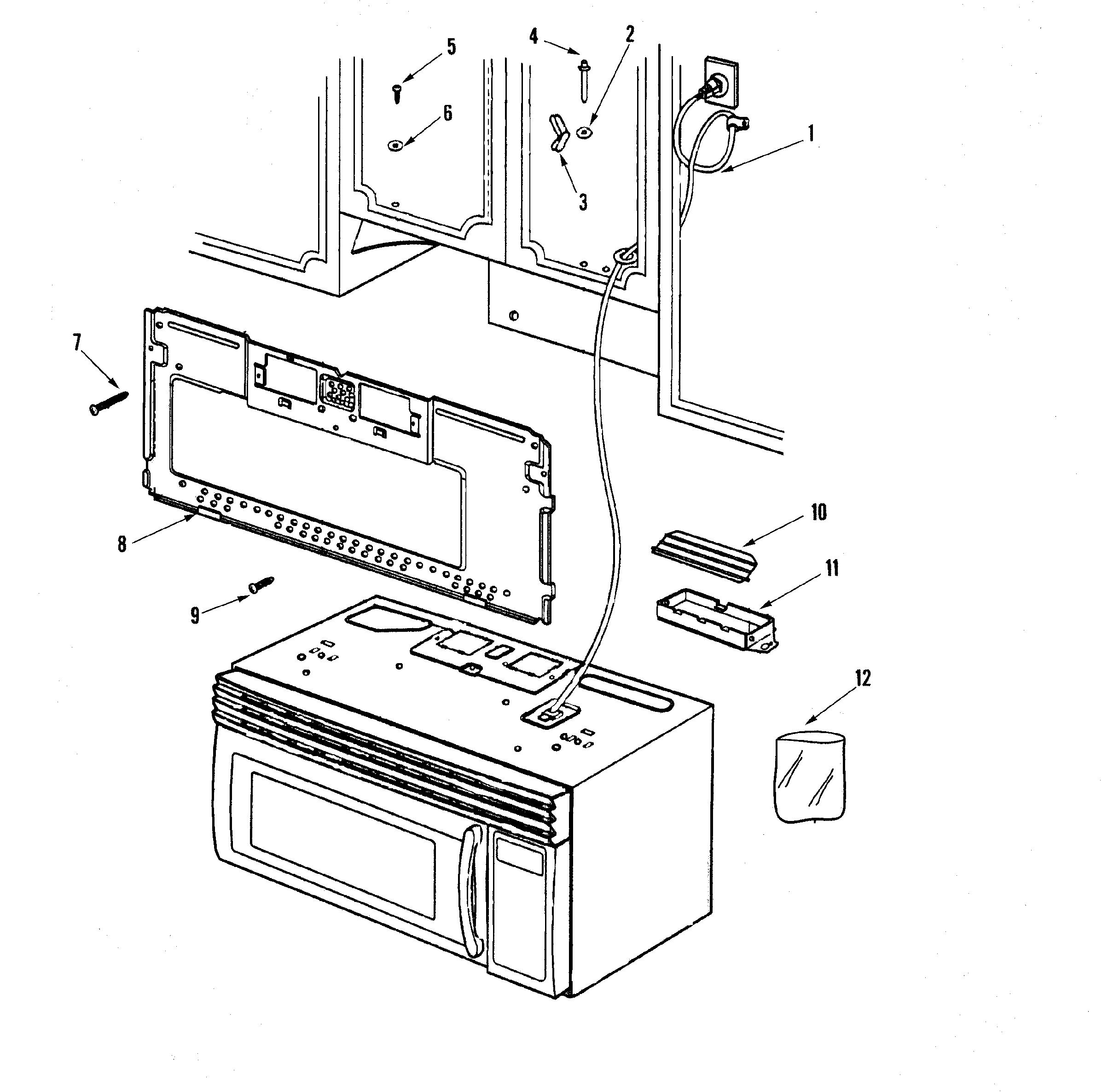 MAYTAG Maytag Microwave install